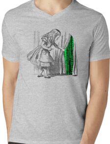 Follow the white rabbit Mens V-Neck T-Shirt