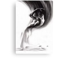 emergent 1b - Charcoal & Compressed Charcoal on paper Canvas Print