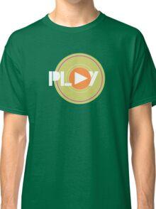 Play Record Cool Retro Music Art Classic T-Shirt