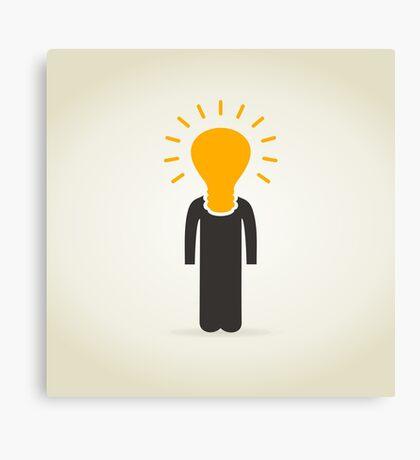 Person a bulb Canvas Print