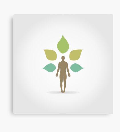 Person a plant Canvas Print