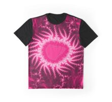 Pink Energy Fractal Pattern  Graphic T-Shirt