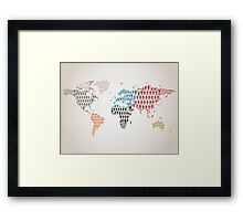 Person map Framed Print