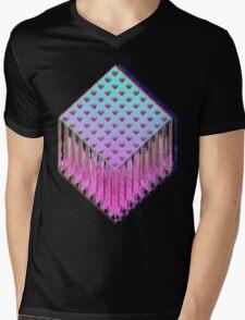 Trine-Glitch Mens V-Neck T-Shirt