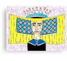 15th Century English Horned Headdress Canvas Print