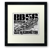 Battleship Washington Framed Print