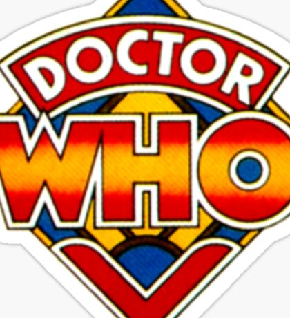 Vintage 1970s/80s Doctor Who Logo  Sticker
