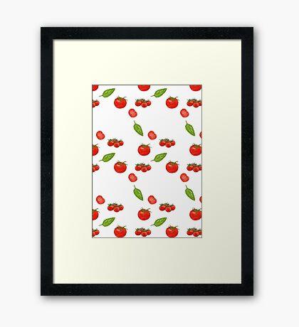 tomatoes on white Framed Print
