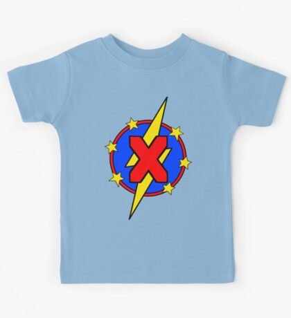 My Cute Little Super Hero - Letter X Kids Tee