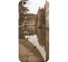 Hebden Bridge view along the canal iPhone Case/Skin