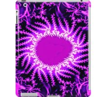 Psychedelic Purple Energy Fractal  iPad Case/Skin