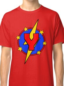 My Cute Little Super Hero - Letter Y Classic T-Shirt