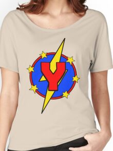My Cute Little Super Hero - Letter Y Women's Relaxed Fit T-Shirt