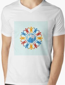 World of people Mens V-Neck T-Shirt