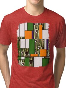 Cactus Garden Art Rectangles 5 Tri-blend T-Shirt