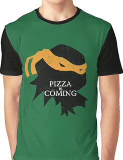 Pizza is Coming Graphic T-Shirt
