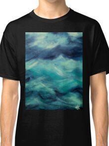 Stormy Sea Ocean Blue Turquoise Aqua Waves Powerful Strong Classic T-Shirt