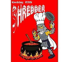 Cooking With Shredder Photographic Print