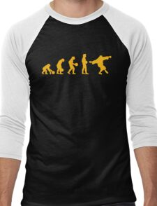 The Big Lebowski evolution yellow Men's Baseball ¾ T-Shirt