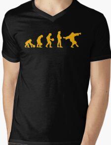 The Big Lebowski evolution yellow Mens V-Neck T-Shirt