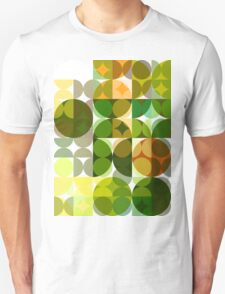 Cactus Garden Abstract Circles 3 T-Shirt