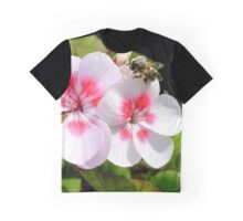 Bee on the geranium Graphic T-Shirt