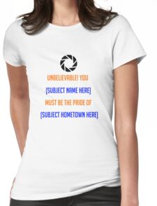 Portal - [Insert Shirt Here] Womens Fitted T-Shirt