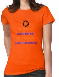 Portal - [Insert Shirt Here] Womens Fitted T-Shirt