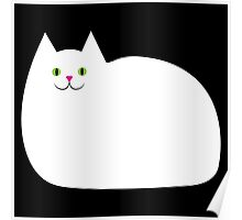 Cute White Kitty Cat Poster