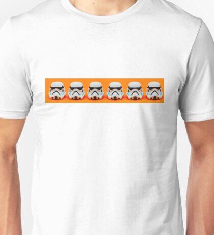 Lego Storm Troopers on orange Unisex T-Shirt
