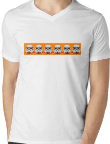 Lego Storm Troopers on orange Mens V-Neck T-Shirt