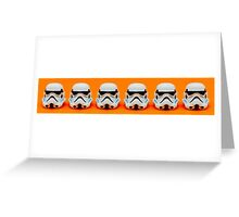 Lego Storm Troopers on orange Greeting Card