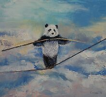 Panda Tightrope by Michael Creese
