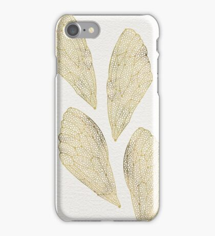 Cicada Wings in Gold iPhone Case/Skin