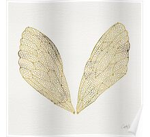 Cicada Wings in Gold Poster