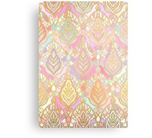 Rosy Opalescent Art Deco Pattern Metal Print