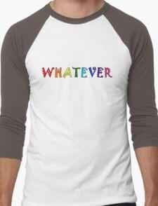 Whatever Funny Cute Rainbow Colors Unisex Men's Baseball ¾ T-Shirt