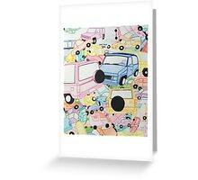 Indigestion Cars  Greeting Card