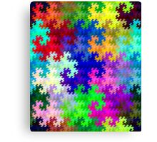 Psychedelic Rainbow Dragon Fractal Pattern Canvas Print