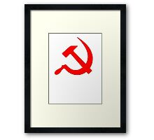Hammer And Sickle Framed Print