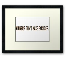 Winners Suits TV Series Inspirational Quote Harvey Specter Gold Framed Print