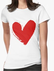 With love. Womens Fitted T-Shirt