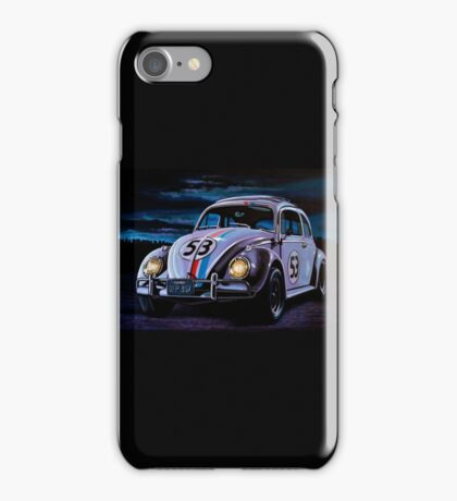 Herbie The Love Bug Painting iPhone Case/Skin