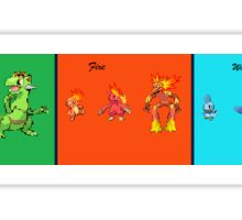 Pokemon Sprite Fusions First Four Starters Sticker