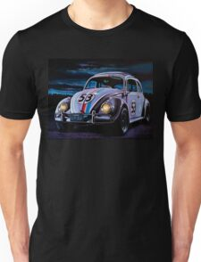 Herbie The Love Bug Painting Unisex T-Shirt