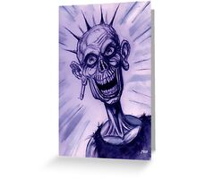 ZOMBIE PUNK Greeting Card
