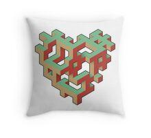 Iso-Heart Throw Pillow