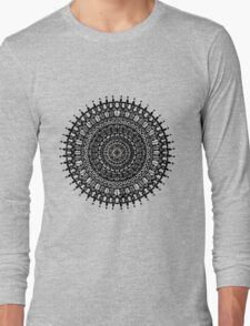Mandala with peonies - fusion Long Sleeve T-Shirt