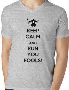 Keep Calm And Run You Fools! Mens V-Neck T-Shirt