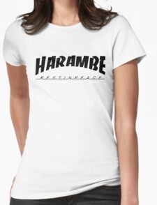 Harambe - Trasher Womens Fitted T-Shirt